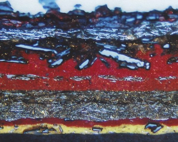 Corte transversal pintura